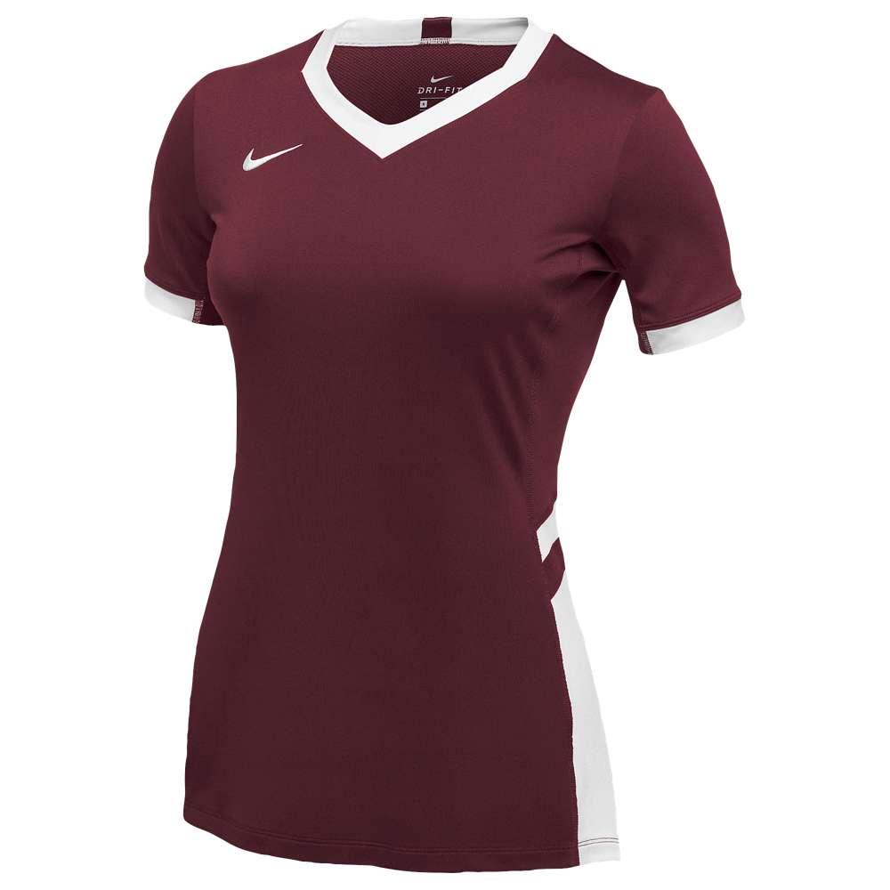 ナイキ レディース バレーボール トップス【Nike Team Hyperace Short Sleeve Game Jersey】Cardinal/White