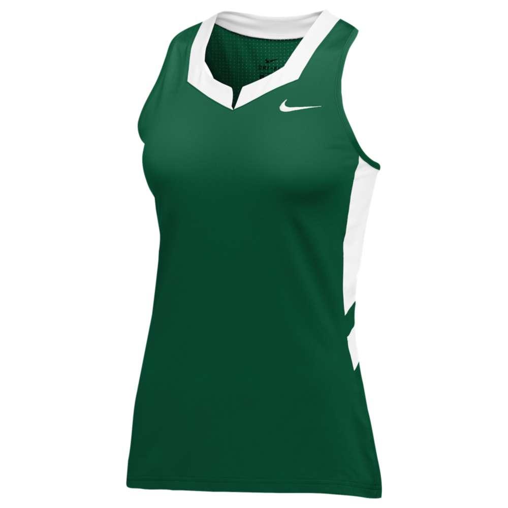ナイキ レディース ラクロス トップス【Nike Team Untouchable Speed Jersey】Dark Green/White