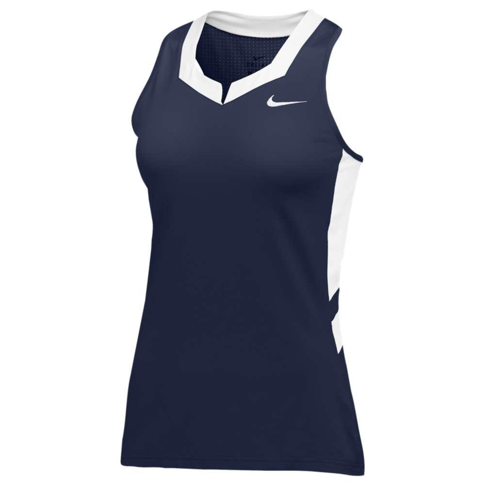 ナイキ レディース ラクロス トップス【Nike Team Untouchable Speed Jersey】Navy/White
