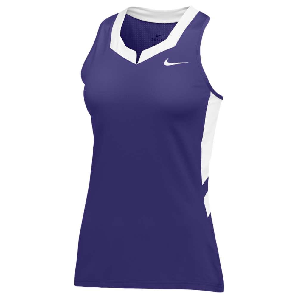 ナイキ レディース ラクロス トップス【Nike Team Untouchable Speed Jersey】Purple/White