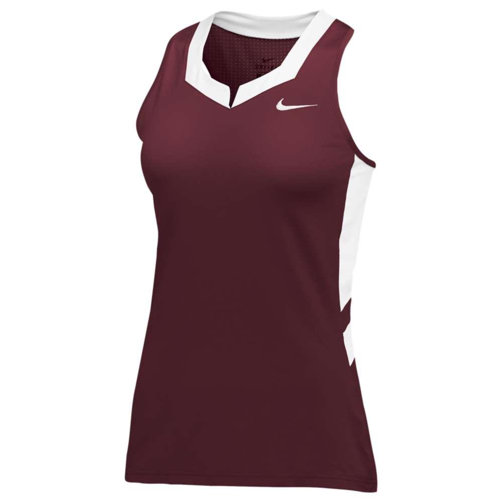 ナイキ レディース ラクロス トップス【Nike Team Untouchable Speed Jersey】Cardinal/White