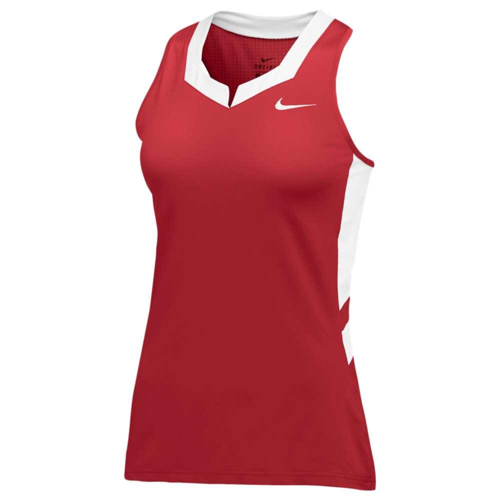 ナイキ レディース ラクロス トップス【Nike Team Untouchable Speed Jersey】Scarlet/White