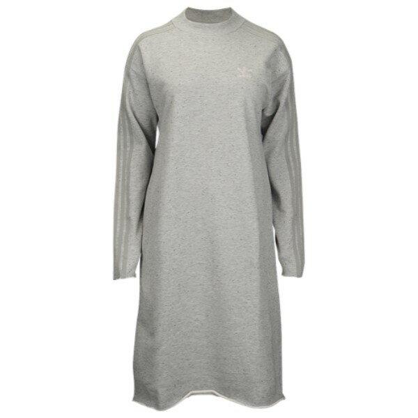 アディダス レディース ワンピース・ドレス ワンピース【adidas Originals Tubular Chicago Crew Dress】Medium Grey Heather