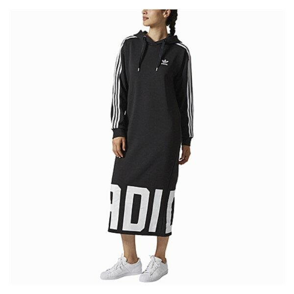 アディダス レディース ワンピース・ドレス ワンピース【adidas Originals Bold Age Hoodie Dress】Black/White