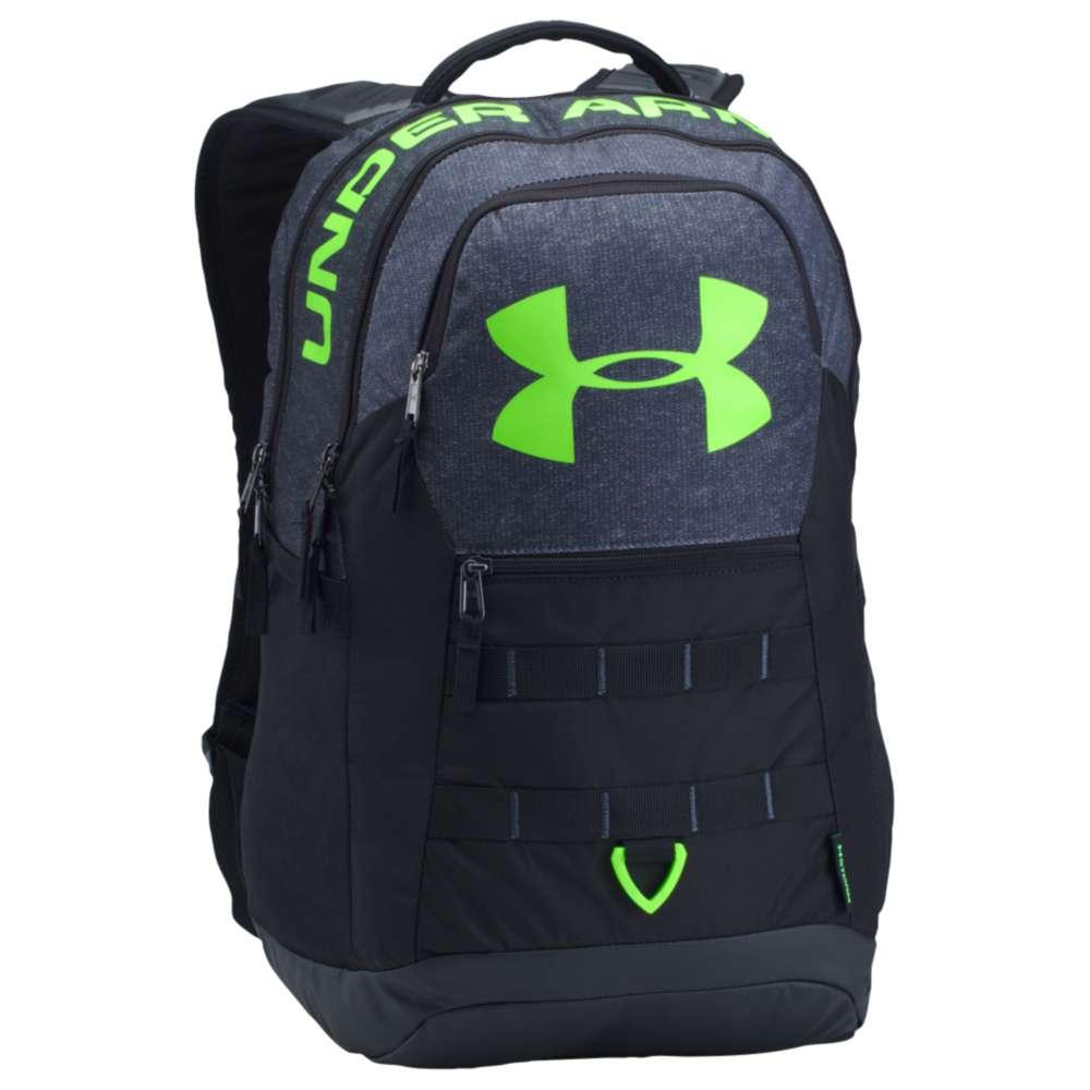 アンダーアーマー ユニセックス バッグ バックパック・リュック【Big Logo Backpack 5.0】Stealth Gray/Black/Quirky Lime