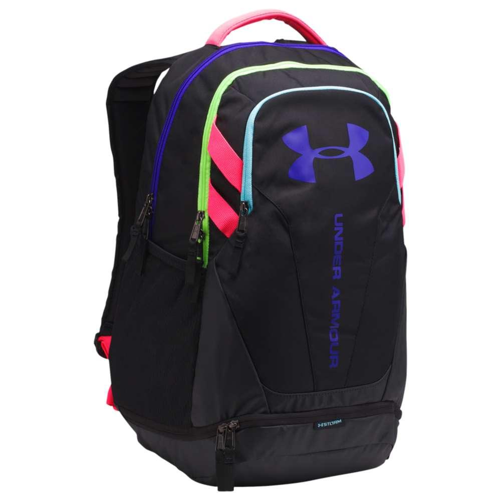 アンダーアーマー ユニセックス バッグ バックパック・リュック【Hustle Backpack 3.0】Black/Black/Constellation Purple