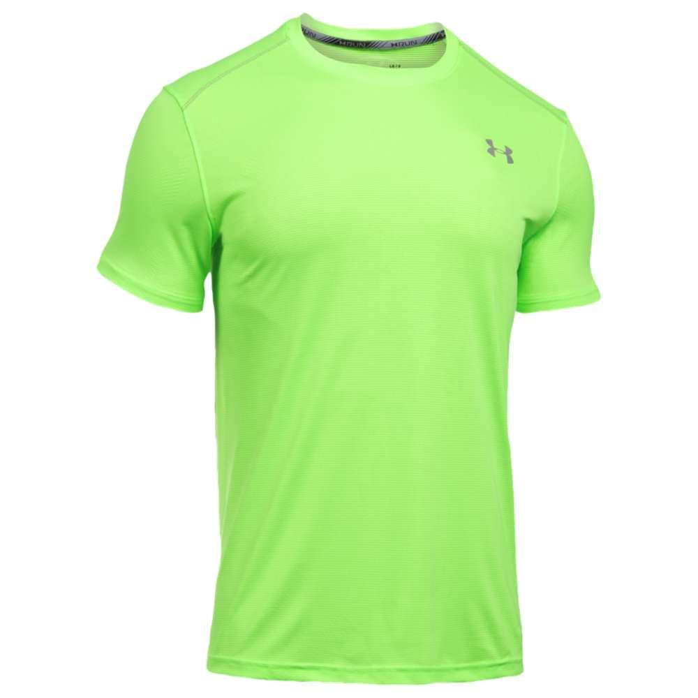 アンダーアーマー メンズ トップス Tシャツ【Coolswitch V2 Run Short Sleeve T-Shirt】Quirky Lime/Quirky Lime/Reflective