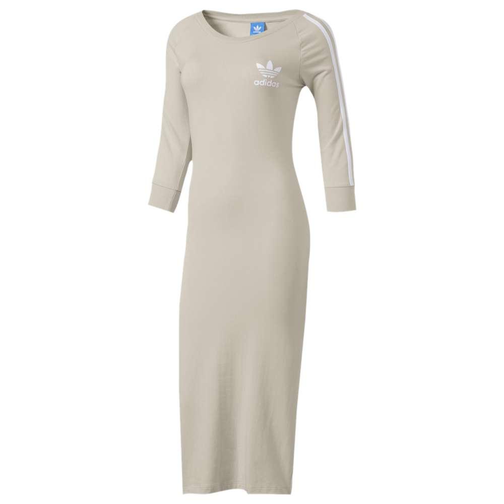 アディダス レディース ワンピース・ドレス ワンピース【Three Stripes Dress】Clear Brown