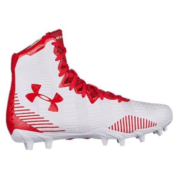 アンダーアーマー レディース ラクロス シューズ・靴【Lacrosse Highlight MC】White/Red