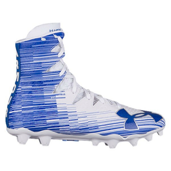 アンダーアーマー メンズ ラクロス シューズ・靴【Lacrosse Highlight MC】White/Royal