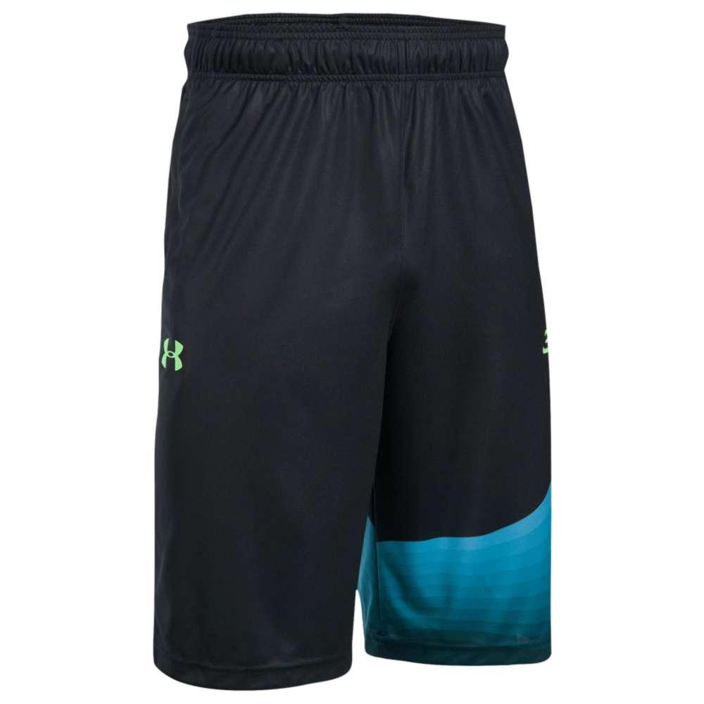 """アンダーアーマー メンズ バスケットボール ボトムス・パンツ【SC30 11"""" Energy Shorts】Black/Blue Shift/Quirky Lime"""