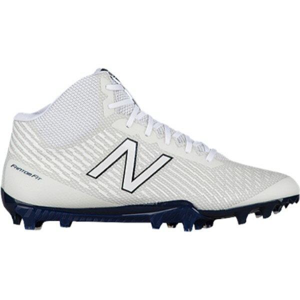 ニューバランス メンズ ラクロス シューズ・靴【Burn X MID】White/Blue