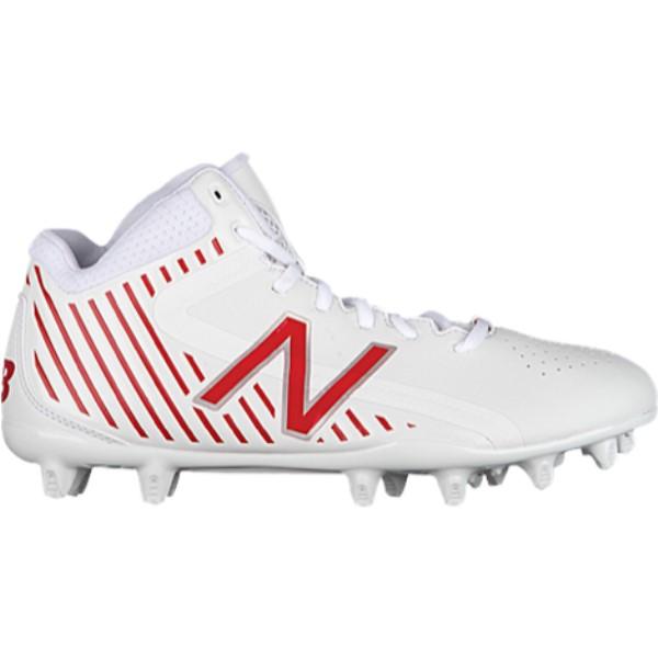 ニューバランス メンズ ラクロス シューズ・靴【Rush MID】White/Red