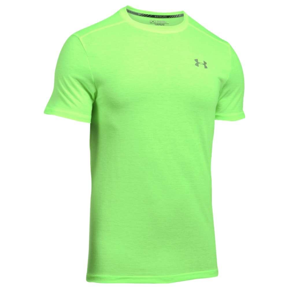 アンダーアーマー メンズ トップス Tシャツ【HeatGear Streaker Short Sleeve T-Shirt】Quirky Lime/Quirky Lime/Reflective