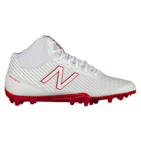 ニューバランス メンズ ラクロス シューズ・靴【Burn X MID】White/Red