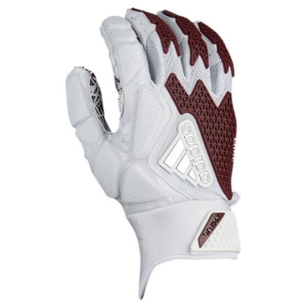 アディダス メンズ アメリカンフットボール グローブ【Freak 3.0 Football Gloves】White/Maroon