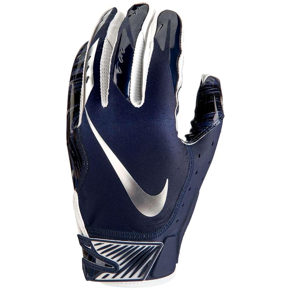 ナイキ メンズ アメリカンフットボール グローブ【Vapor Jet 5.0 Football Gloves】College Navy/College Navy/Chrome