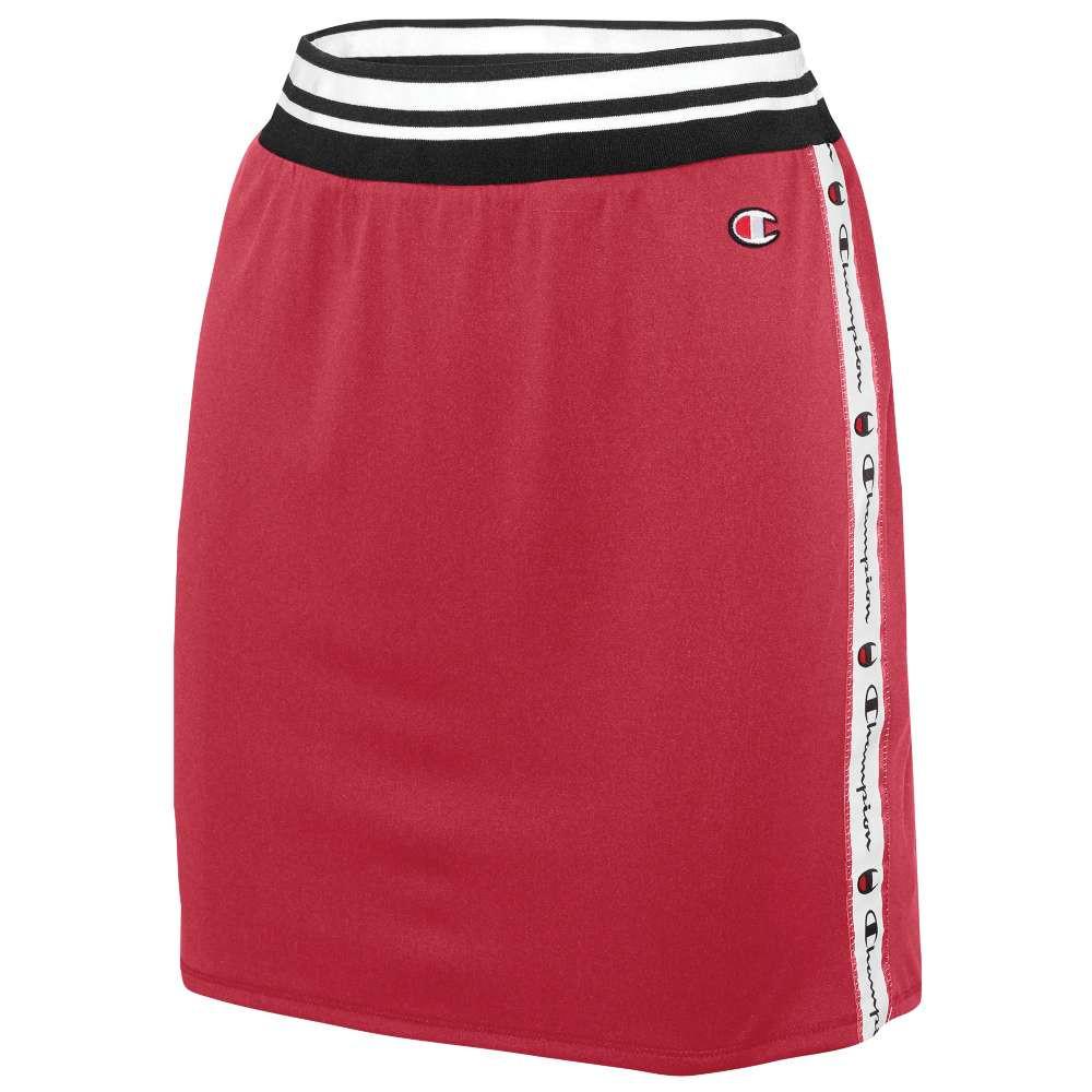 チャンピオン レディース スカート【Reversible Mesh High Waist Skirt】White/Red Spark