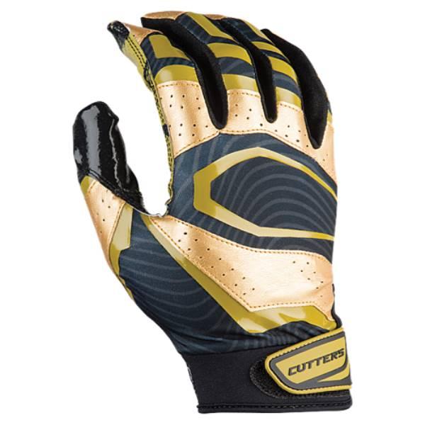 カッターズ メンズ アメリカンフットボール グローブ【Rev Pro 3.0 Metallic Receiver Gloves】Black/Metallic Gold