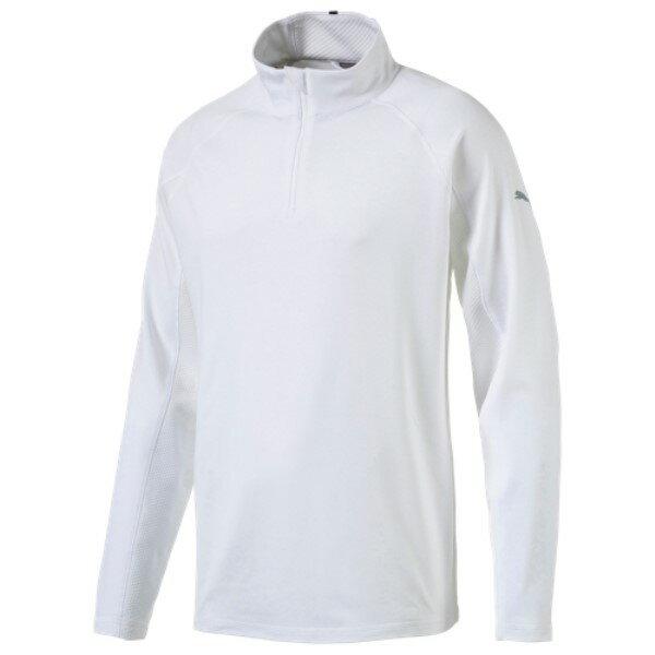 プーマ メンズ ゴルフ トップス【Core Golf 1/4 Zip Popover】Bright White