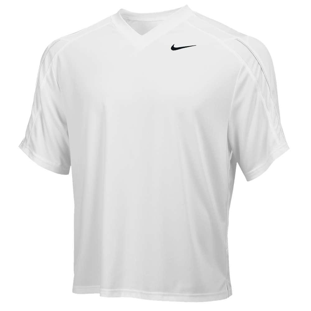 ナイキ メンズ ラクロス トップス【Team Face-Off Game Jersey】White/White/Black