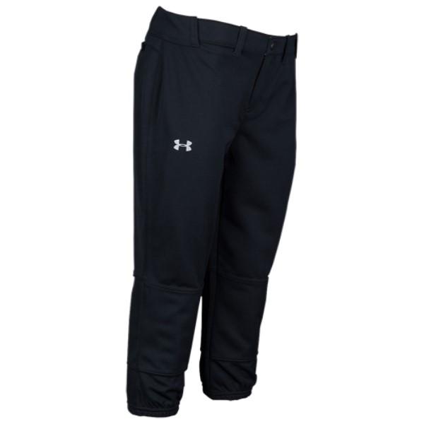 アンダーアーマー レディース 野球 ボトムス・パンツ【Stirke Zone Pants】Black/Quirky Lime/Overcast Grey