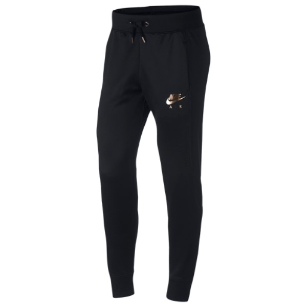 ナイキ Nike レディース ボトムス・パンツ スウェット・ジャージ【Rose Gold Metallic Air Cuffed Track Pants】Black