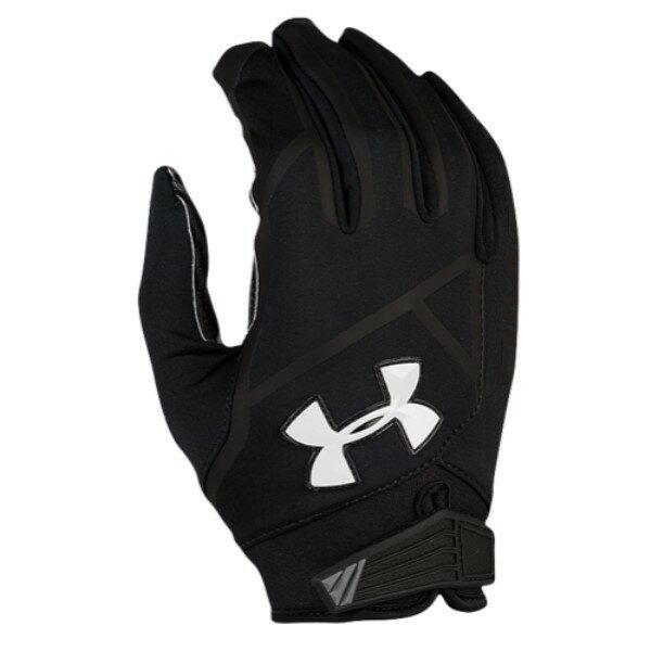 アンダーアーマー Under Armour メンズ アメリカンフットボール グローブ【Playoff Coldgear II Football Gloves】Black/Black/White