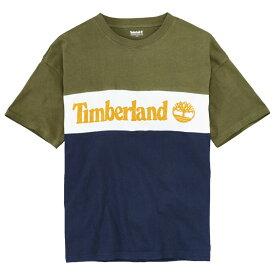 ティンバーランド Timberland メンズ トップス Tシャツ【Oversized S/S T-Shirt】Black Iris/Grape Leaf