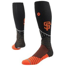 スタンス Stance メンズ インナー・下着 ソックス【MLB Team Onfield Diamond Pro OTC Socks】MLB San Francisco Giants Black