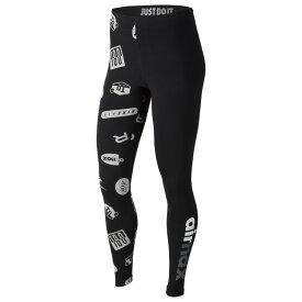 ナイキ Nike レディース インナー・下着 スパッツ・レギンス【Air Max Logo Leggings】Black/White