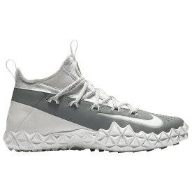ナイキ Nike メンズ ラクロス シューズ・靴【alpha huarache 6 elite turf lax】White/White/Cool Grey/Wolf Grey