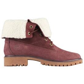 ティンバーランド Timberland レディース ブーツ シューズ・靴【jayne wp teddy fleece fold-down】Burgundy Nubuck