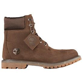 """ティンバーランド Timberland レディース ブーツ シューズ・靴【satin accent 6"""" premium wp boots】Dark Brown Nubuck/Satin"""