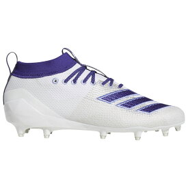 アディダス adidas メンズ アメリカンフットボール シューズ・靴【adizero 8.0】White/Collegiate Purple/White