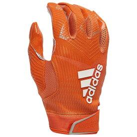 アディダス adidas メンズ アメリカンフットボール レシーバーグローブ グローブ【adizero 5-star 8.0 receiver glove】Orange/Metallic Silver