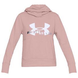 アンダーアーマー Under Armour レディース パーカー トップス【sportstyle logo hoodie】Flushed Pink