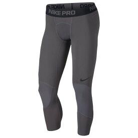 ナイキ Nike メンズ バスケットボール タイツ・スパッツ ボトムス・パンツ【basketball 3/4 tights】Dark Grey/Black