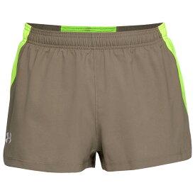 """アンダーアーマー Under Armour メンズ ランニング・ウォーキング ショートパンツ ボトムス・パンツ【2"""" stretch woven split shorts】Slit Brown/High-Vis Yellow/Reflective"""