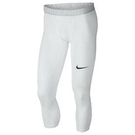 ナイキ Nike メンズ フィットネス・トレーニング タイツ・スパッツ ボトムス・パンツ【pro 3/4 compression tights】White/Pure Platinum/Black