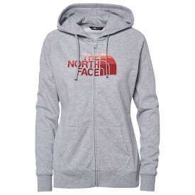 ザ ノースフェイス The North Face レディース パーカー トップス【half dome full zip hoodie】Tnf Light Grey Heather/Spiced Coral