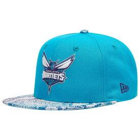 ニューエラ New Era メンズ キャップ 帽子【nba 9fifty visor craze snapback cap】NBA Charlotte Hornets Teal/Purple