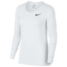 ナイキ Nike レディース フィットネス・トレーニング トップス【pro mesh long sleeve top】White/Black