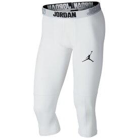 ナイキ ジョーダン Jordan メンズ バスケットボール タイツ・スパッツ ボトムス・パンツ【23 alpha dry 3/4 tights】White/Black