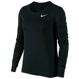 ナイキ Nike レディース フィットネス・トレーニング トップス【pro mesh long sleeve top】Black/White