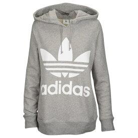 アディダス adidas Originals レディース パーカー トップス【adicolor trefoil hoodie】Grey Melange