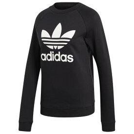 アディダス adidas Originals レディース トップス 【adicolor trefoil crew】Black/White