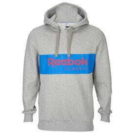 リーボック Reebok メンズ パーカー トップス【classic pullover hoodie】Medium Grey Heather/Vital Blue