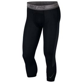 ナイキ Nike メンズ フィットネス・トレーニング タイツ・スパッツ ボトムス・パンツ【pro breathe compression 3/4 tights】Black/Black
