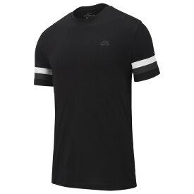 ナイキ Nike SB メンズ スケートボード トップス【striped sleeve s/s t-shirt】Black/Thunder Grey